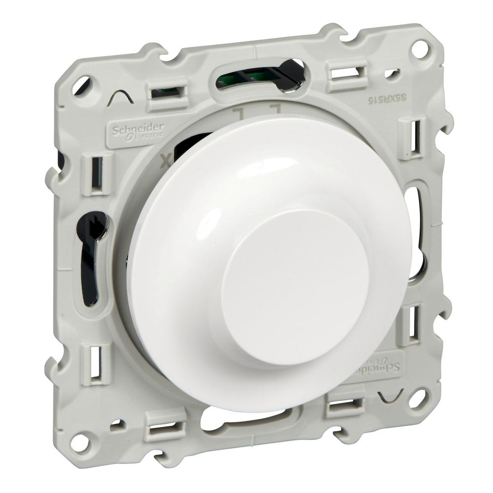 Фото ODACE светорегулятор поворотно-нажимной, универсальный, 20-420 ва, белый {S52R515}