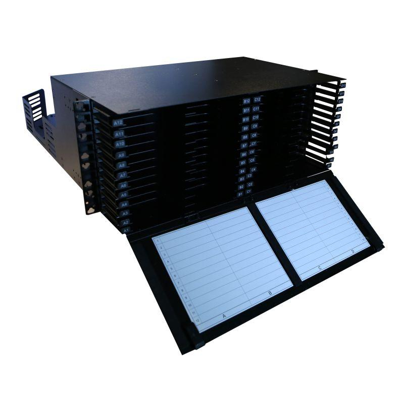 Фото Полка оптическая неукомп. модульная сверхвысокой плотности для установки кассет 19дюйм 4U Leg 032153