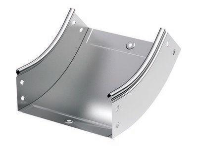 Фото Угол для лотка вертикальный внутренний 45град. 100х80 CS 45 в комплекте с крепеж. элементами цинк-ламель DKC 36742KZL