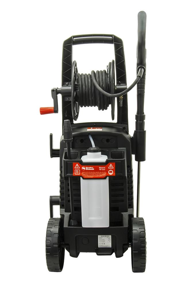 Фото Мойка высокого давления Quattro Elementi Genova 180 Turbo (2600 Вт, 180 бар, 450 л/час, колеса, асинхрон) + ротационная насадка {242-342} (3)