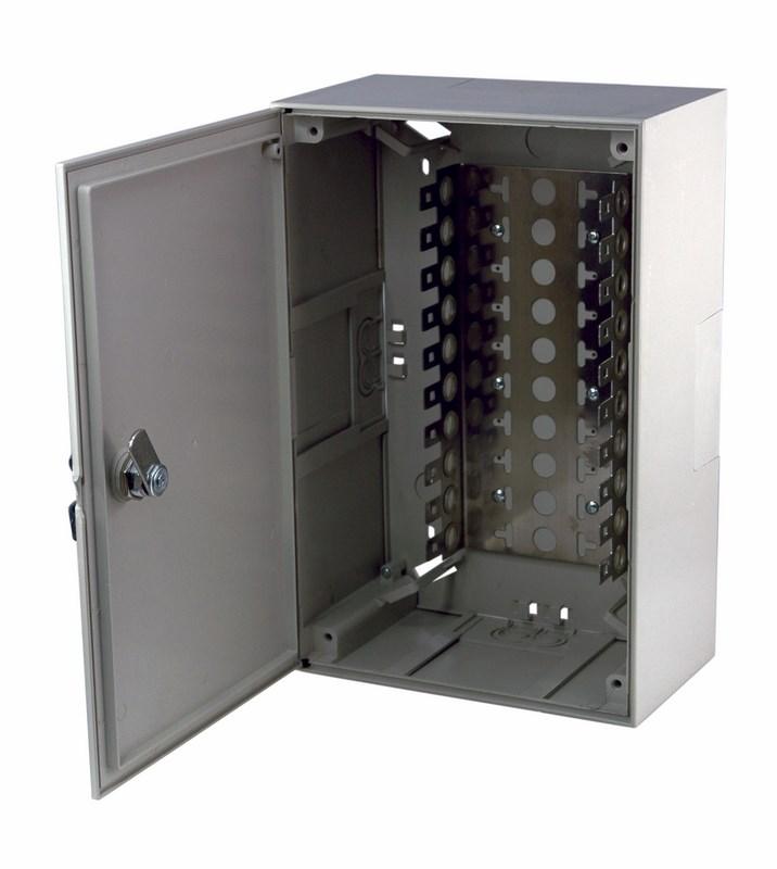 Фото Коробка распределительная на 100 пар Rexant (пластик с замком) 320х215х75 мм {04-0152}