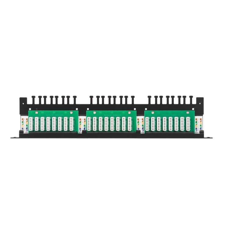 Фото Патч-панель 19дюйм 0.5U 24 порта кат.5e (класс D) 100МГц RJ45/8P8C 110/KRONE T568A/B неэкран. с органайзером черн. NIKOMAX NMC-RP24UD2-HU-BK