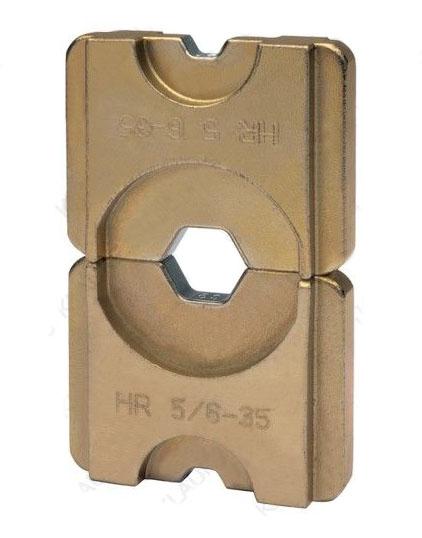 """Фото Матрица серии """"5"""" для трубчатых медных облегченных наконечников для двух сечений 25+95 мм² (шестигранник) {klkHR52595}"""