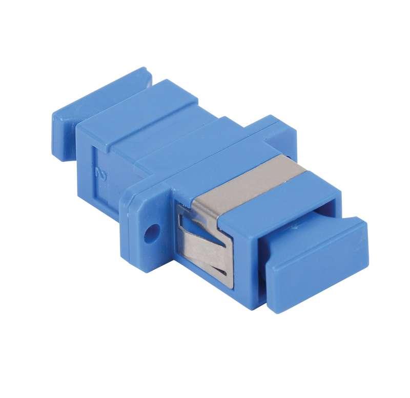 Фото Адаптер проходной SC-SC для одномодового и многомодового кабеля (SM/MM); с полировкой UPC; одинарного исполнения (Simplex) ITK FC1-SCUSCU1C-SM