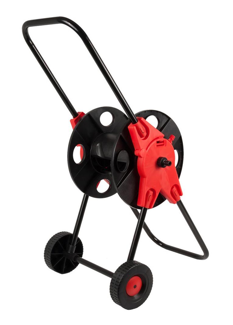 "Фото Катушка для садового шланга Quattro Elementi малая, с колесами (шланг 1/2"" - до 45 м, 3/4"" - 30 м) {772-203} (1)"