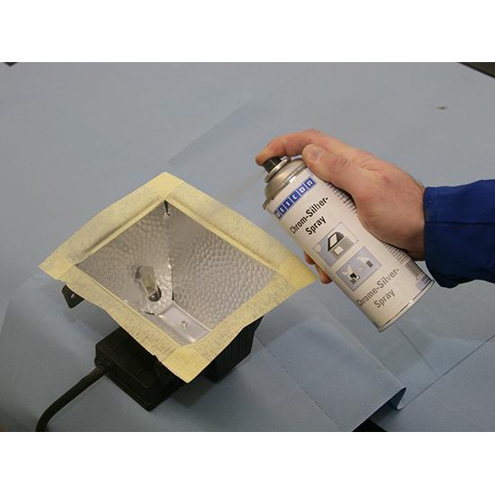 Фото Защитное покрытие Weicon Chrome-Silver Spray, хром-серебро-спрей (400 мл) {wcn11103400} (1)