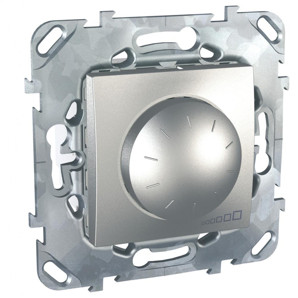 Фото UNICA TOP диммер повор.-нажим.,для ламп накал./галог., 2-провод. подкл., алюминий {MGU5.511.30ZD}