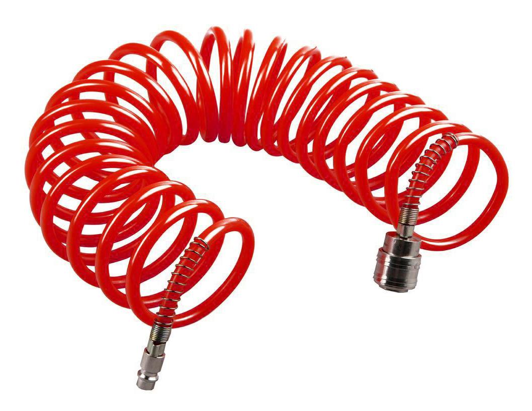 Фото Шланг пневматический Quattro Elementi 5 метров, спиральный, разъем EURO {770-933}