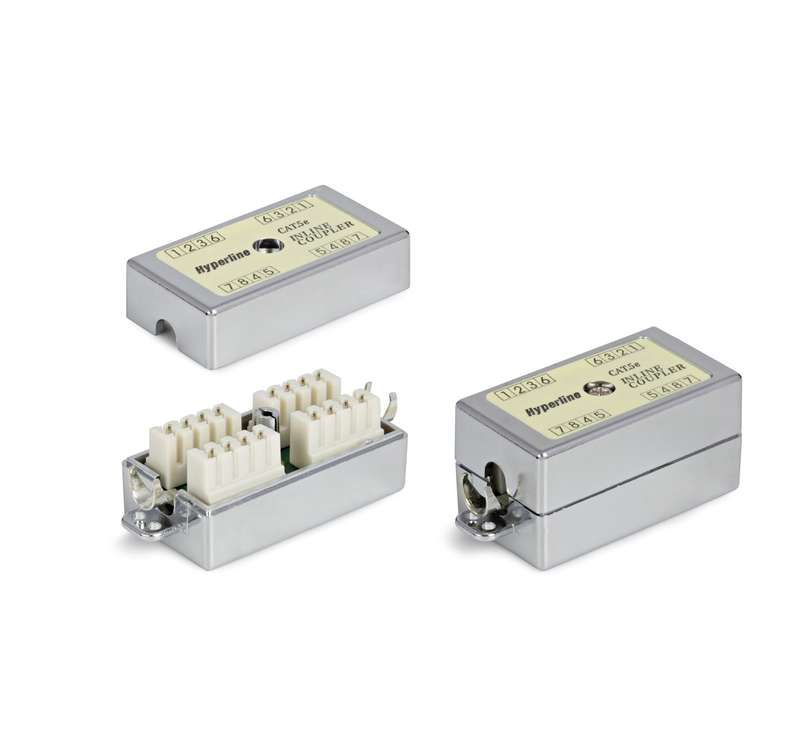 Фото Адаптер CA-IDC-C5e-SH-F-WH (coupler) проходной Dual IDC экранир. кат. 5e 4 пары Hyperline 23534