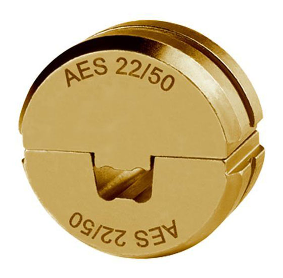 """Фото Матрица серии """"22"""" для втулочных наконечников 95 мм² для компактных жил 5-6 класса (специальная трапеция) {klkAES2295}"""