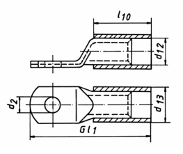 Фото Наконечники медные изолированный стандарт Klauke с контрольным отверстием 10 мм² под винт М8 {klk602R8MS} (1)