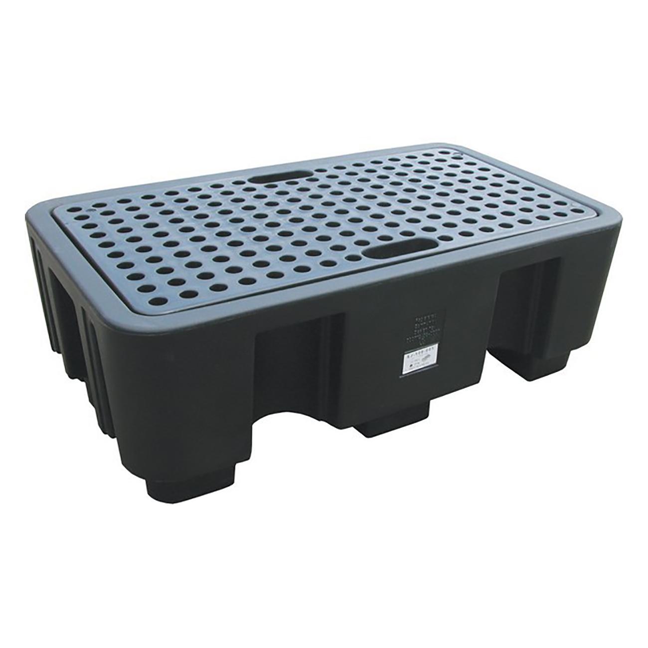 Фото Пластиковый поддон HSP-2-BB с решеткой на 2 бочки {spc196267}