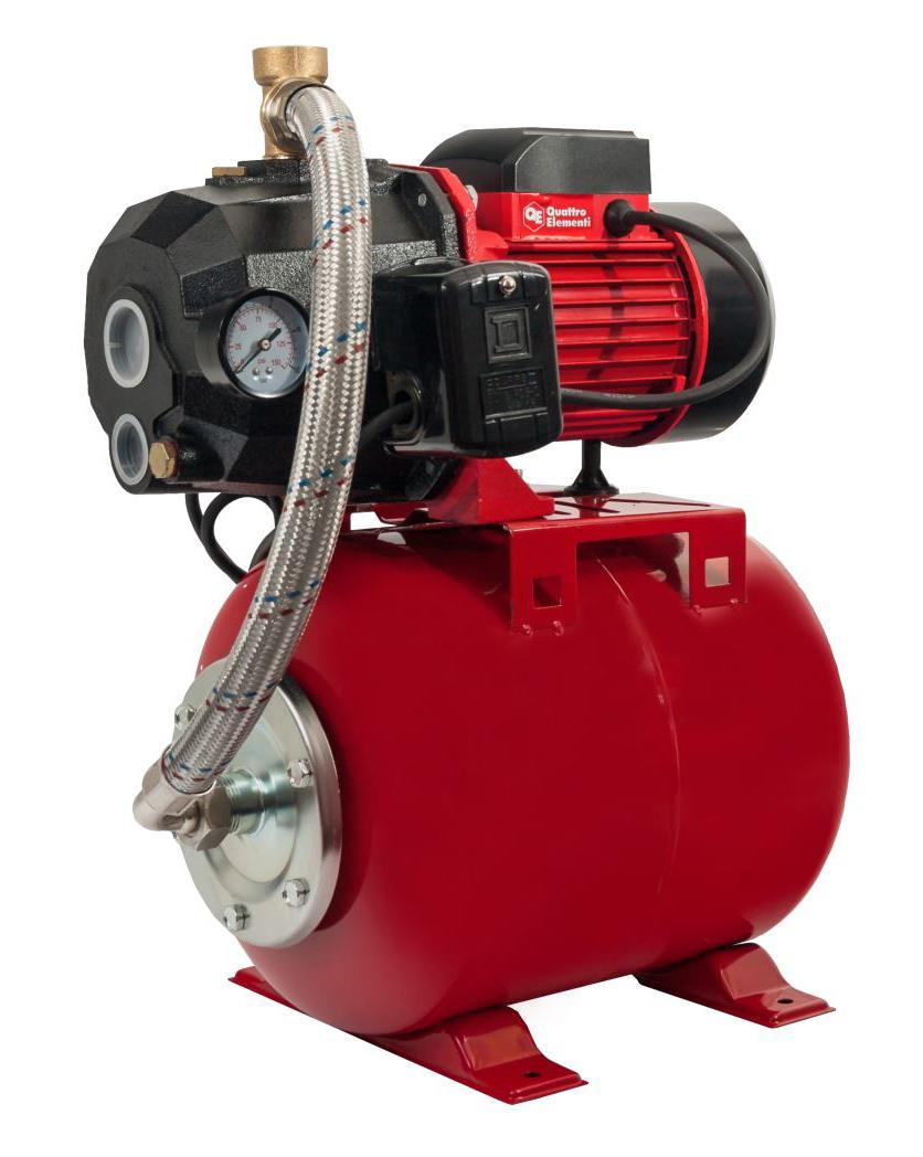 Фото Насосная станция Quattro Elementi Automatico 800 Ci Deep (800 Вт, 2500 л/ч, для чистой, 40 м, 20,1 кг) + эжектор {645-280} (2)