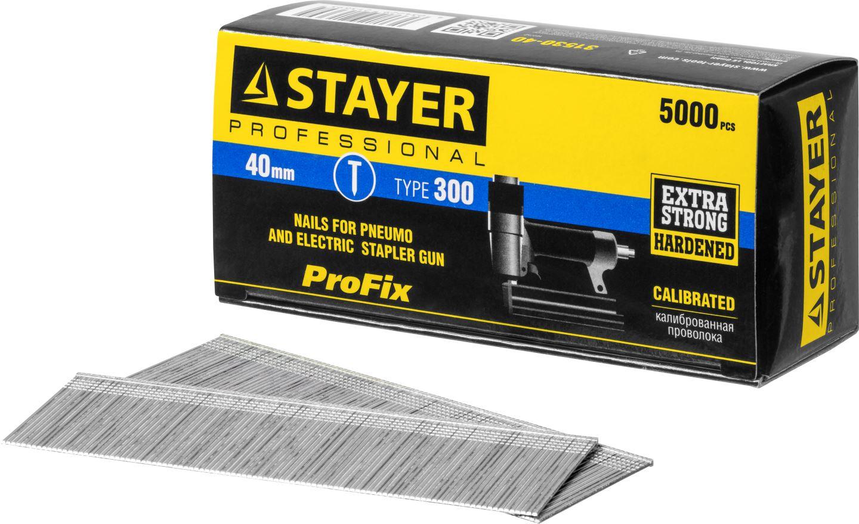 Фото STAYER 40 мм гвозди для нейлера тип 300, 5000 шт {31530-40} (2)