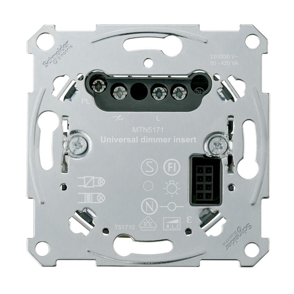 Фото MERTEN D-Life PlusLink механизм универ. диммера 10-420вт RLC (LED), 1 канал {MTN5171-0000}