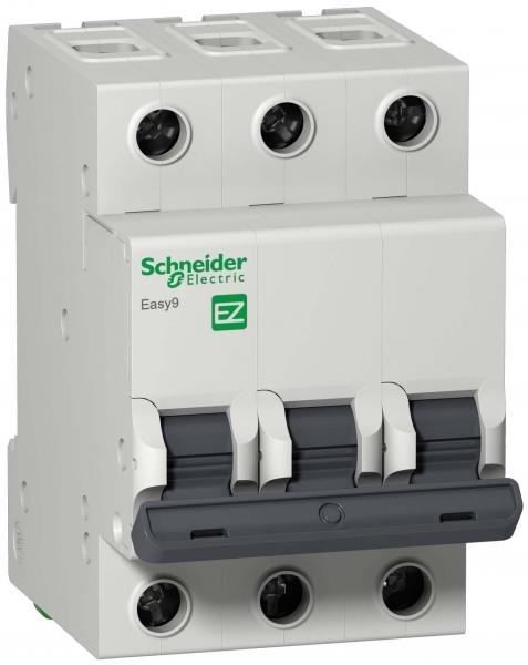 Фото Автоматический выключатель  EASY 9 3п 40а с 4,5ка 400в =S= {EZ9F34340}