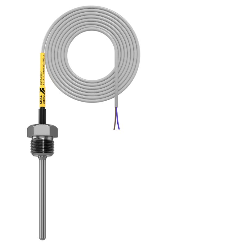 Фото Датчик температуры погружной OptiSensor ESTF-PT1000-80-PVC-2 КЭАЗ 286496