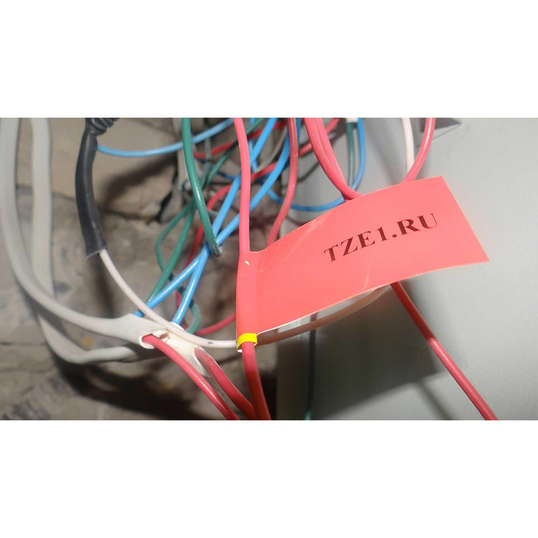 Фото Лента Vell VL-411 (Brother TZE-411, 6 мм, черный на красном) для PT 1010/1280/D200/H105/E100/ D600/E300/2700/ P700/E550/9700 {Vell411} (2)