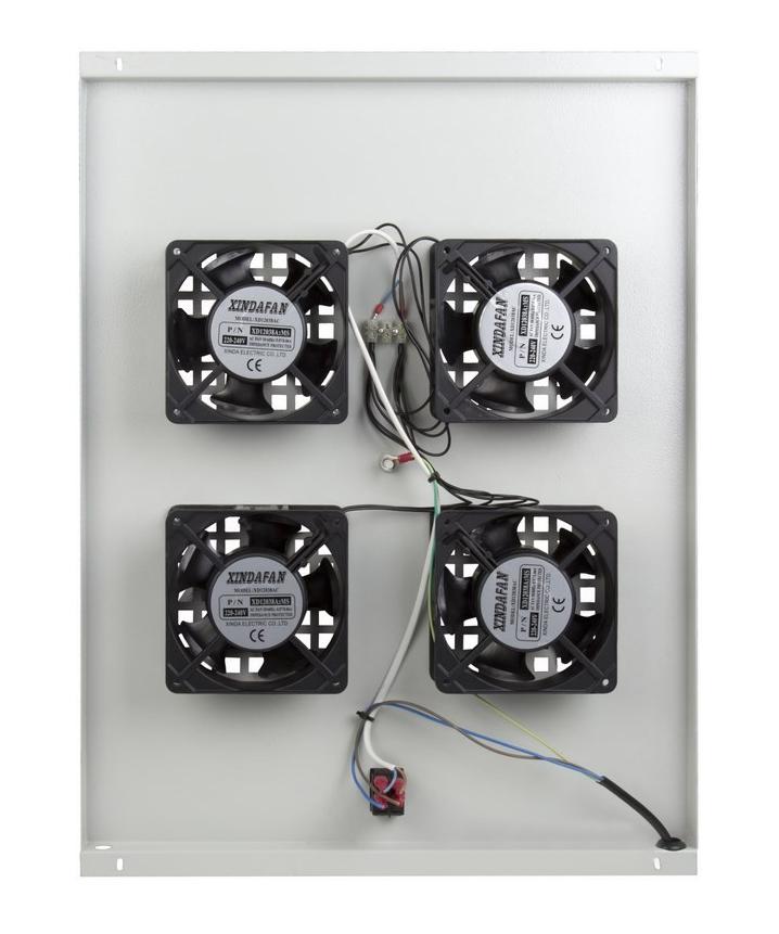 Фото Модуль вентиляторный потолочный Rexant с 4-мя вентиляторами, без термостата, для шкафов серии Standart с глубиной 800 мм {04-2601} (2)