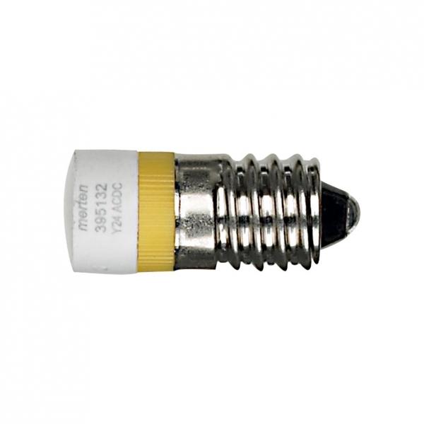 Фото MERTEN лампа светодиодная E10 24 в, желтый {MTN395132}