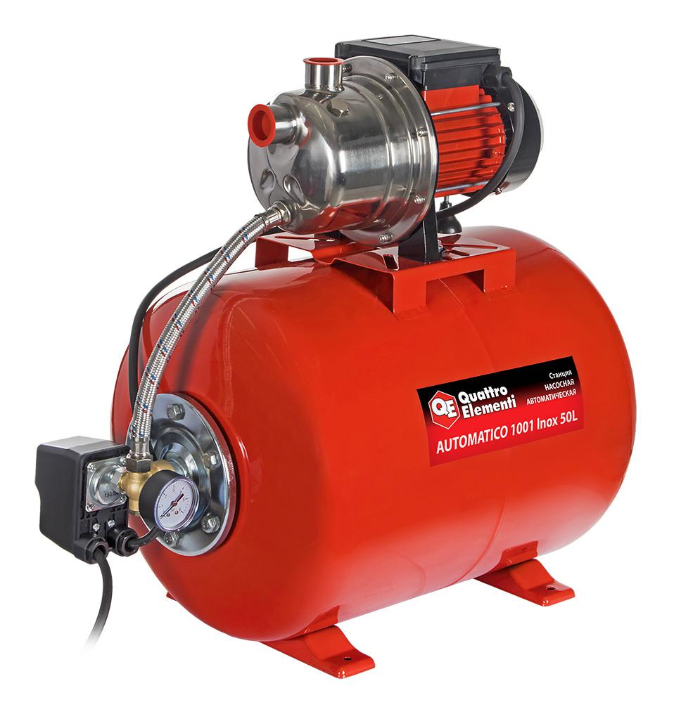 Фото Насосная станция Quattro Elementi Automatico 1001 Inox 50 L (1000 Вт, 3600 л/ч, для чистой, 40 м, 14,2 кг) {910-225}