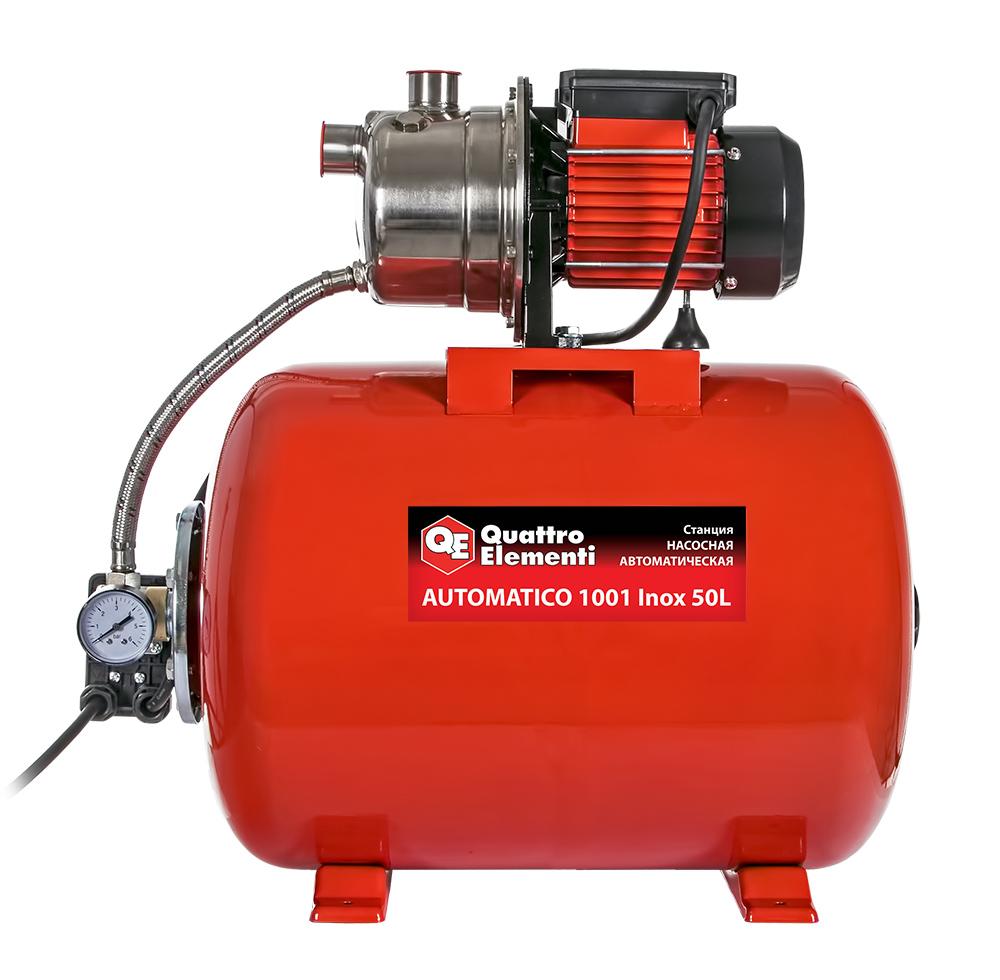 Фото Насосная станция Quattro Elementi Automatico 1001 Inox 50 L (1000 Вт, 3600 л/ч, для чистой, 40 м, 14,2 кг) {910-225} (2)