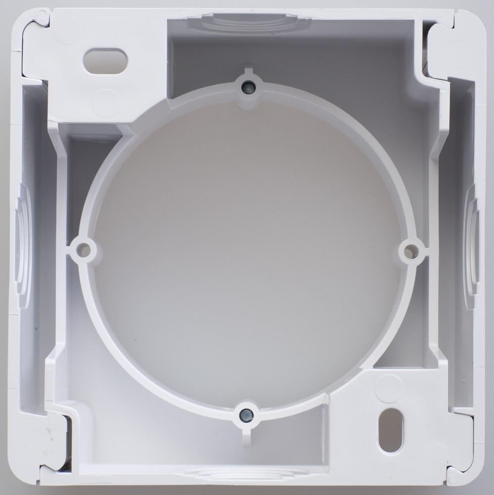Фото Коробка для наружного монтажа GLOSSA, белый {GSL000100}