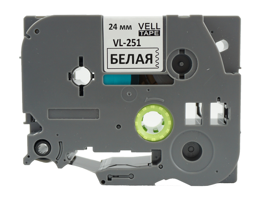 Фото Лента Vell VL-251 (Brother TZE-251, 24 мм, черный на белом) для PT D600/2700/P700/P750/ PTE550/9700/P900 {Vell251} (1)